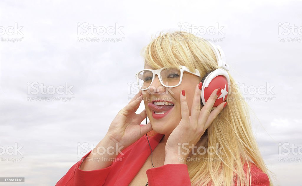 Music Model Two stock photo