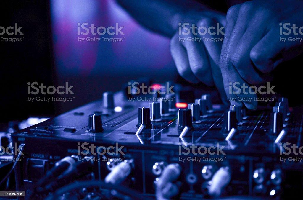 DJ Music night club royalty-free stock photo