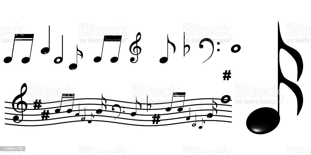 music note stock photo