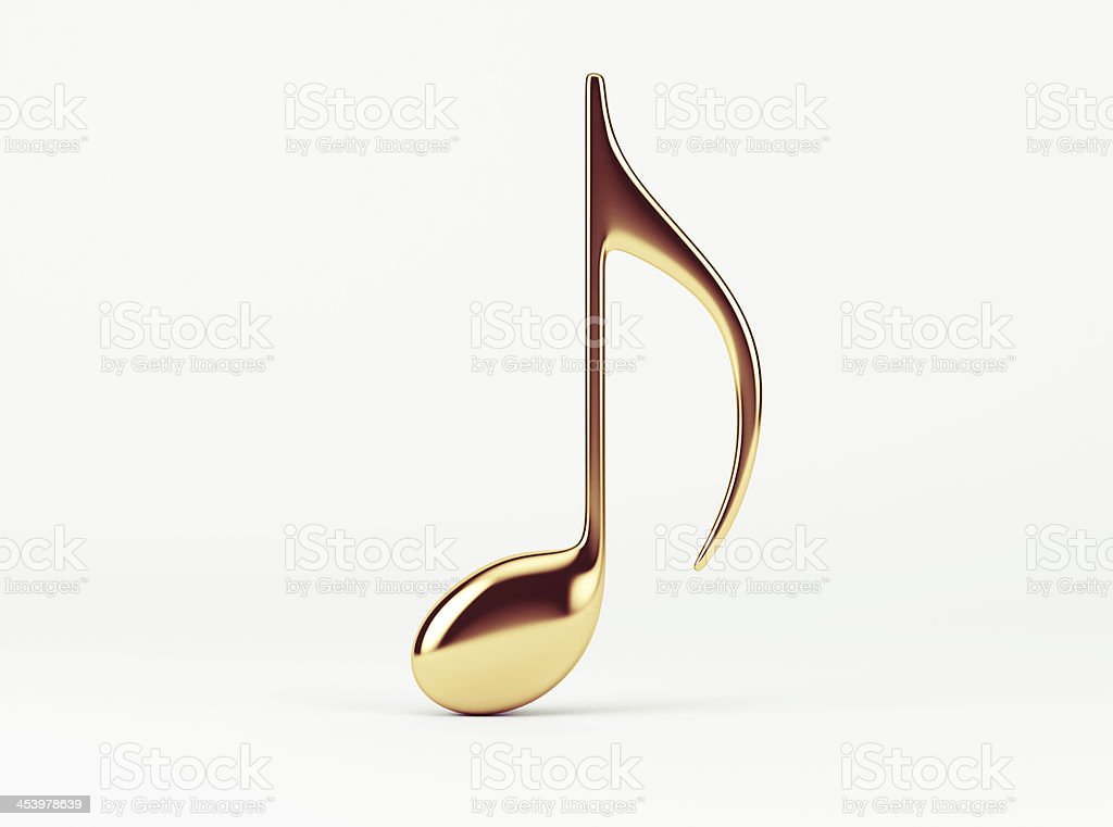 Music Note.  Quaver stock photo