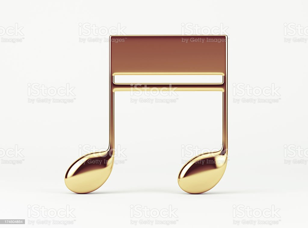 Music Note.  Quavers stock photo
