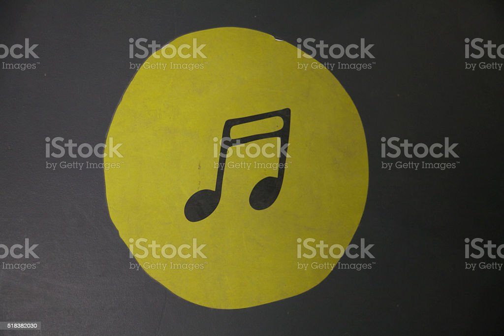 Music Note Symbol Drawing Icon Silhouette stock photo