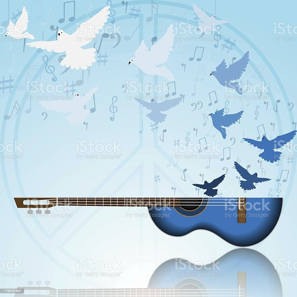 Music of peace royalty-free stock photo