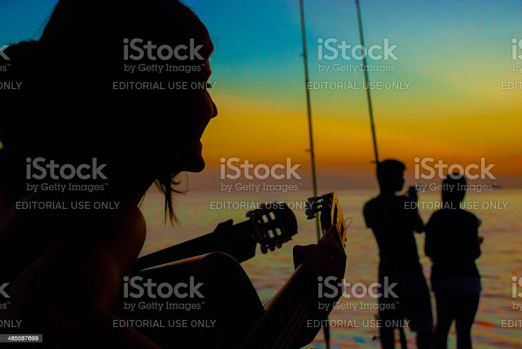 Music on Sunset royalty-free stock photo