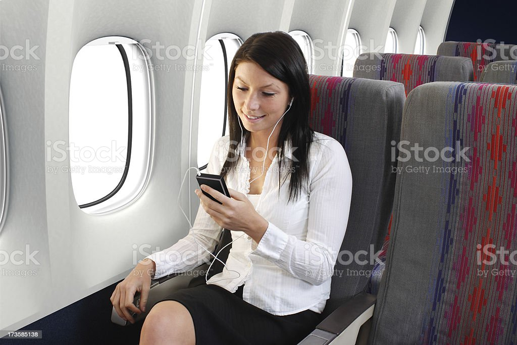 Music On The Plane royalty-free stock photo