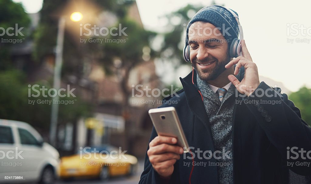 Music on....World off stock photo