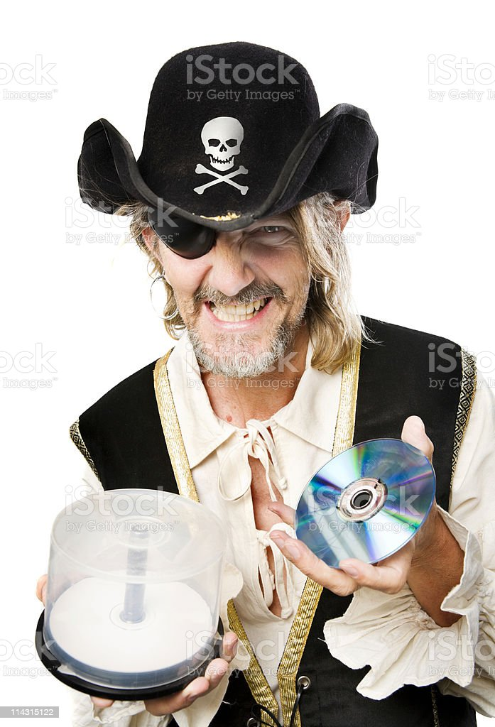 Music or software pirate stock photo
