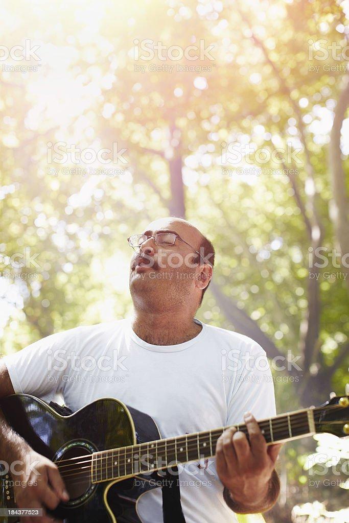 Music outdoors stock photo