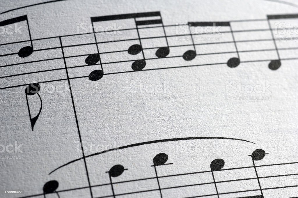 Music paper royalty-free stock photo