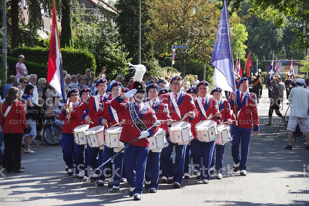 Music parade in Brunssum stock photo