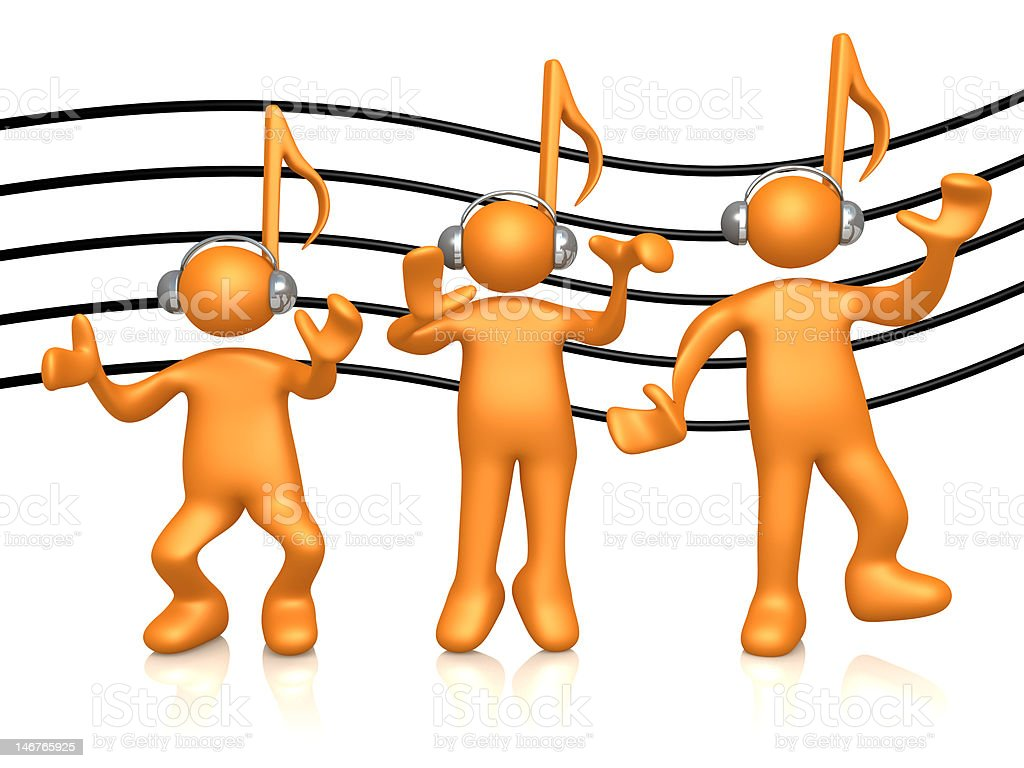 Music People royalty-free stock photo