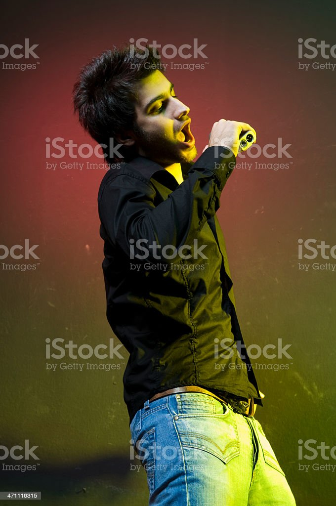 music performance of young man royalty-free stock photo