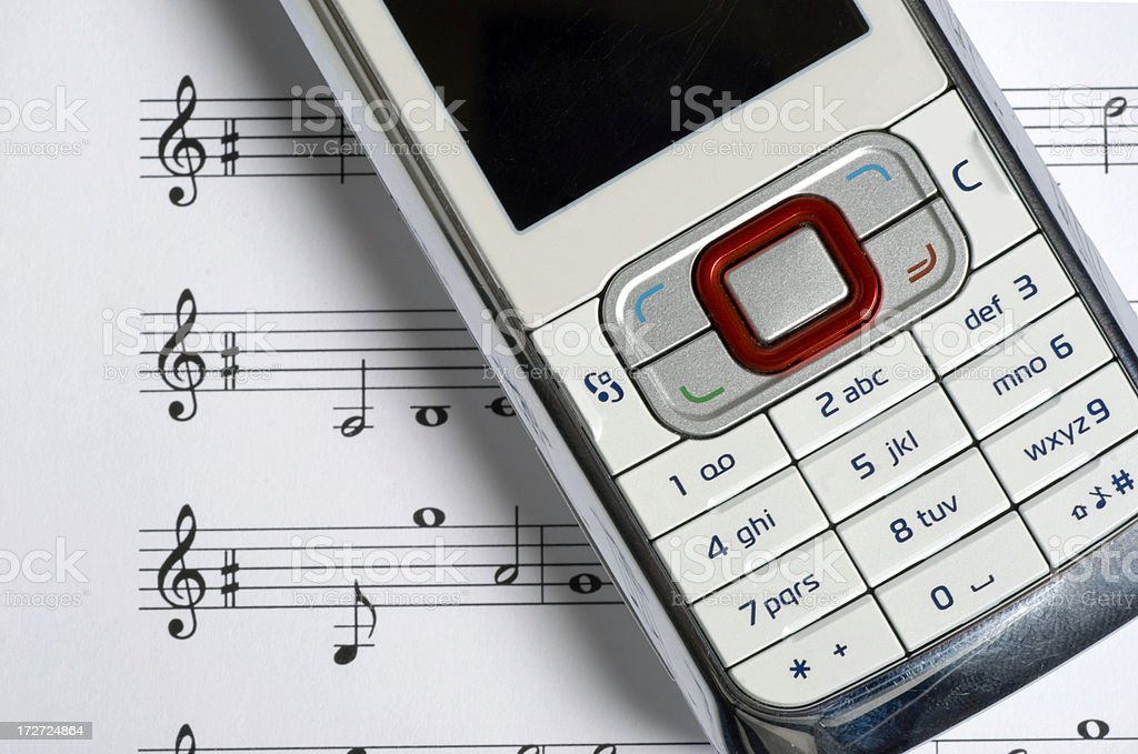 Music Phone 02 royalty-free stock photo