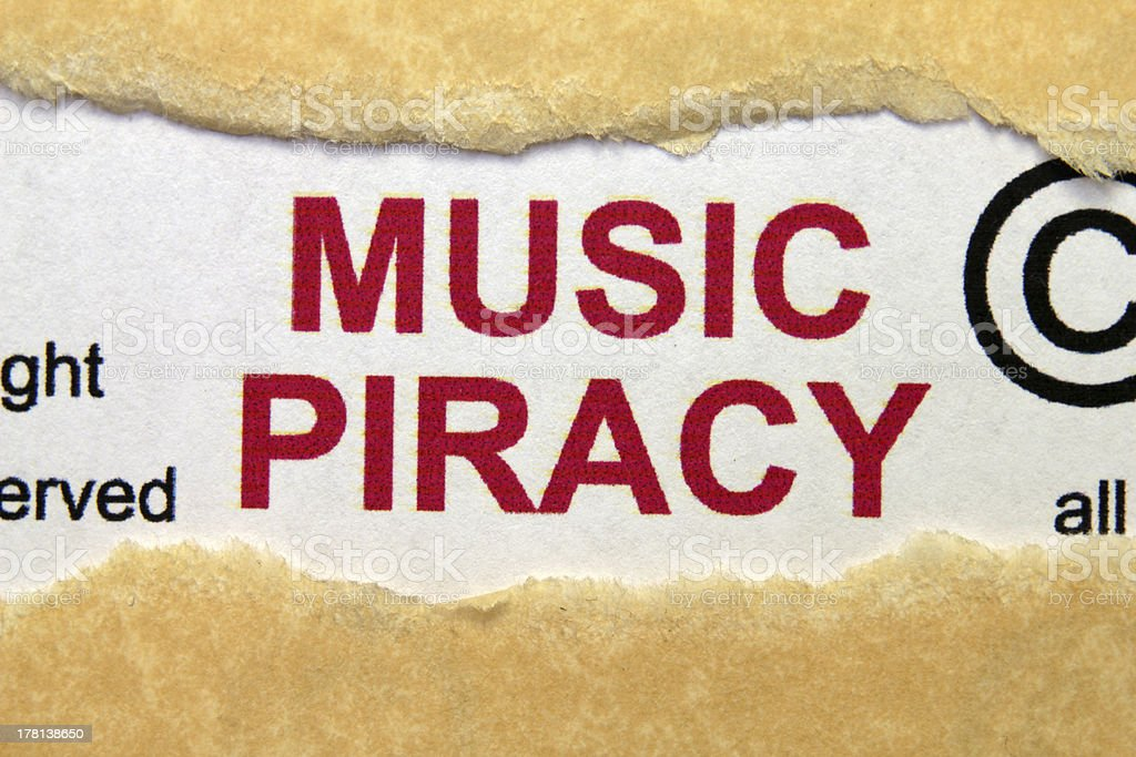 Music piracy royalty-free stock photo