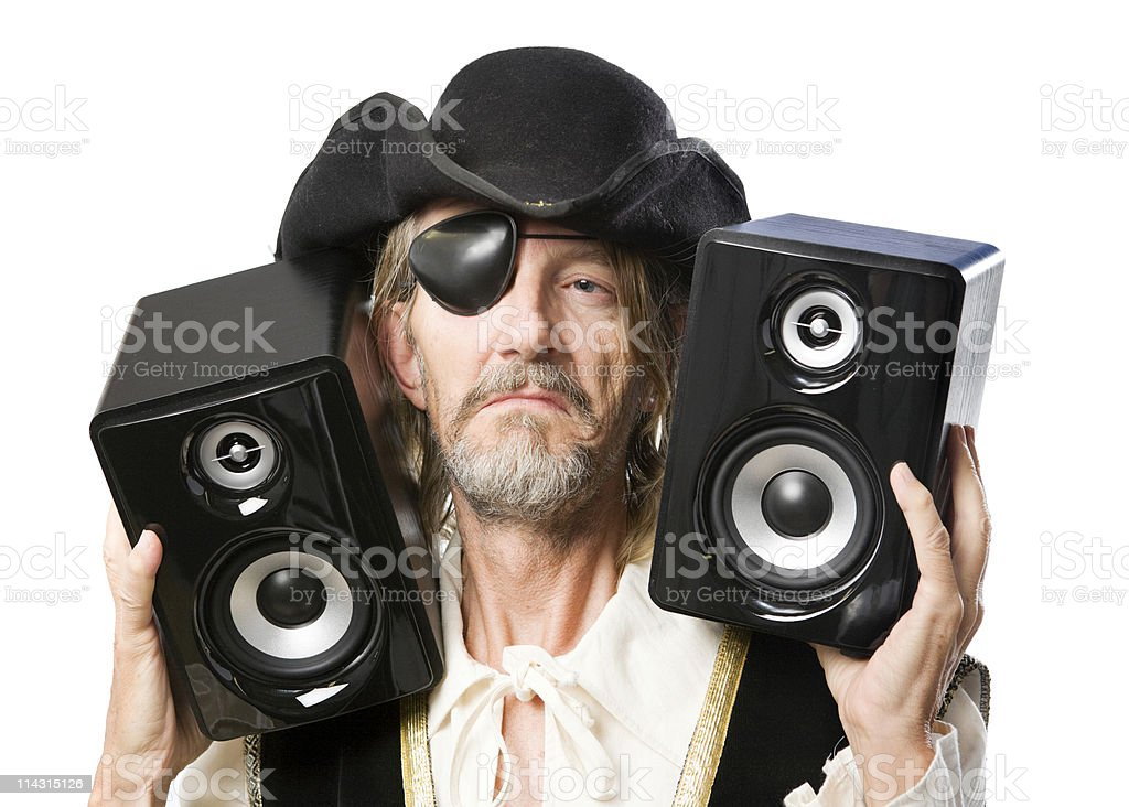 Music pirate stock photo