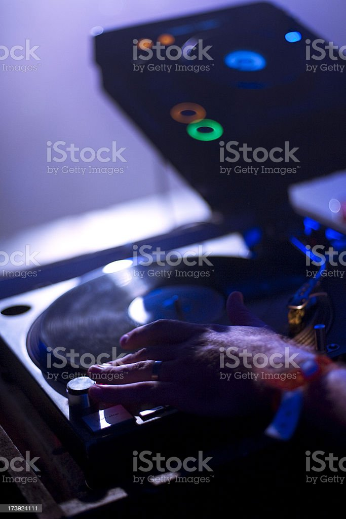 Music played at a party by the DJ royalty-free stock photo