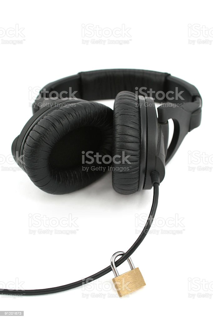 Music protection royalty-free stock photo