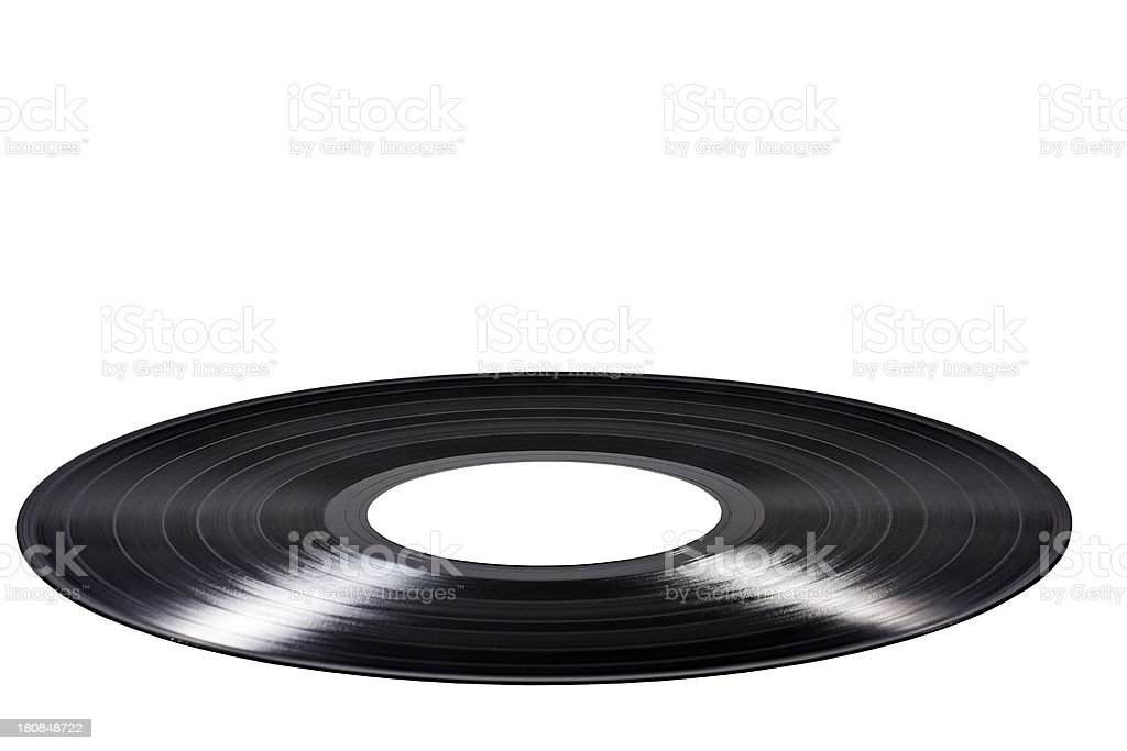 music record, cut out on white background royalty-free stock photo