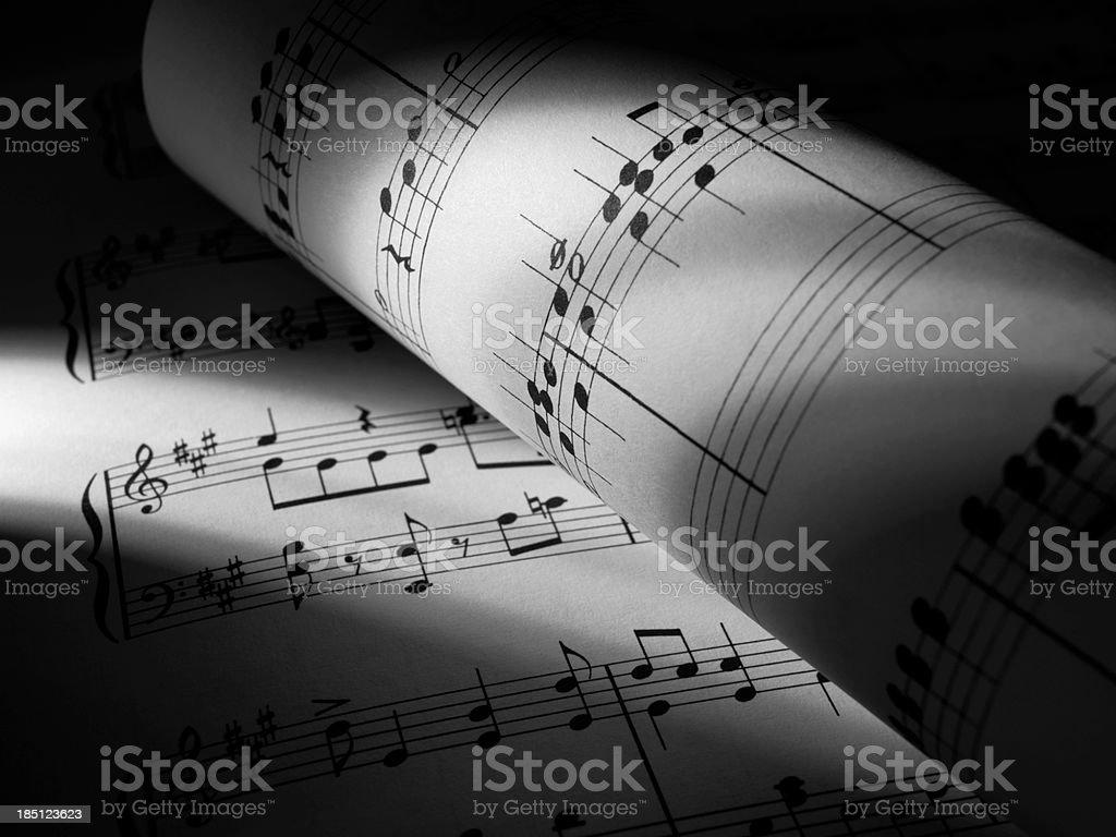 Music roll stock photo
