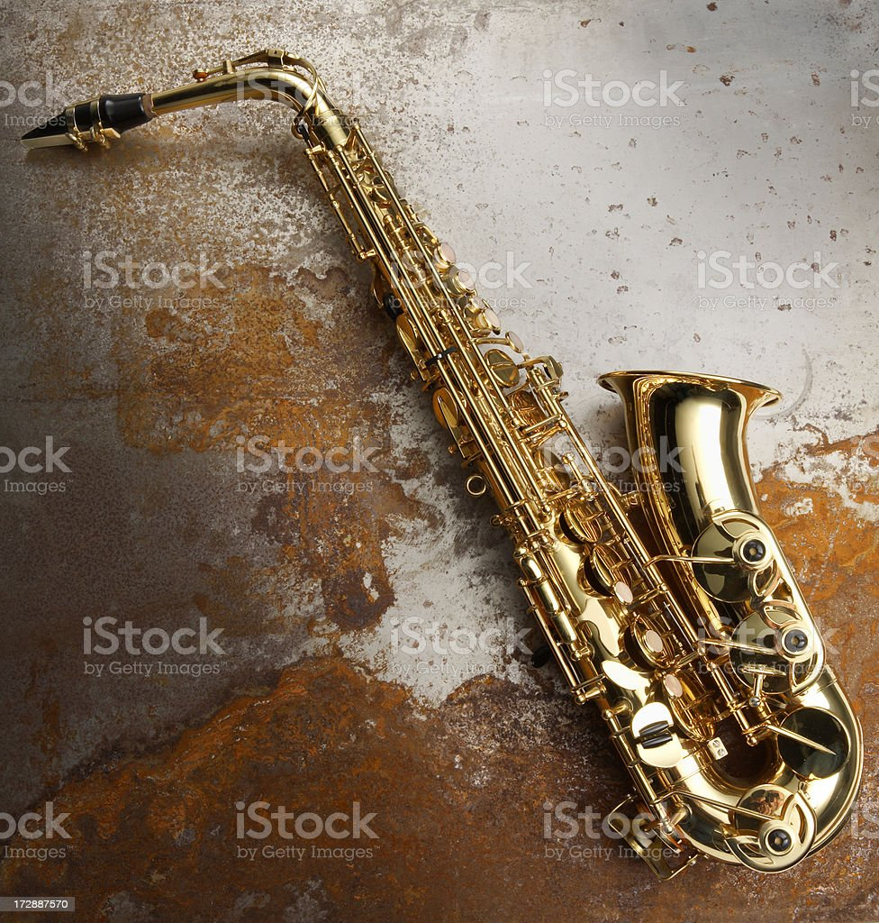 Music: Saxophone royalty-free stock photo