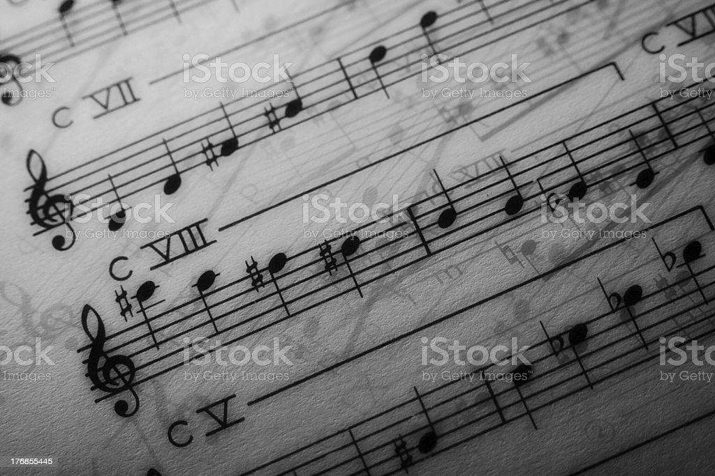Music score stock photo