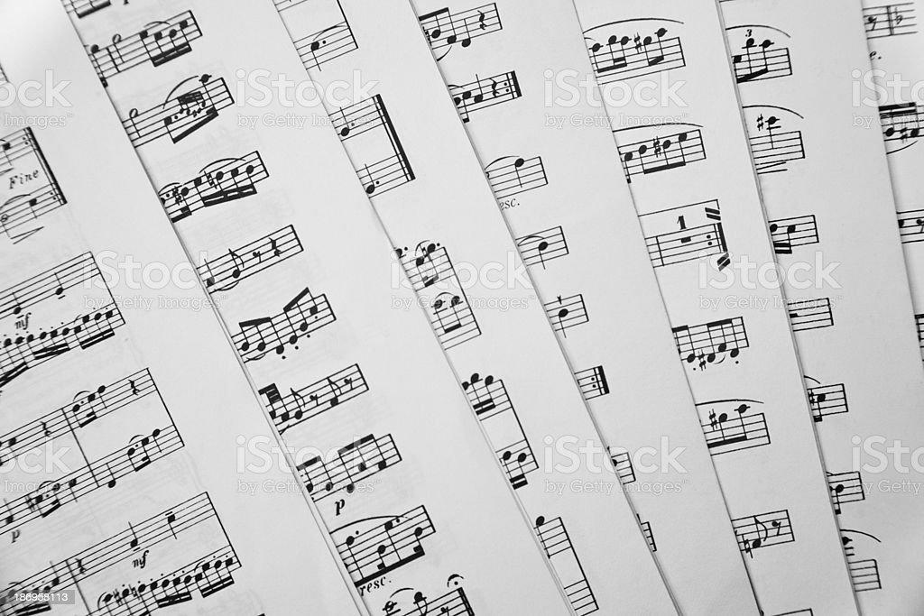 Music scores royalty-free stock photo