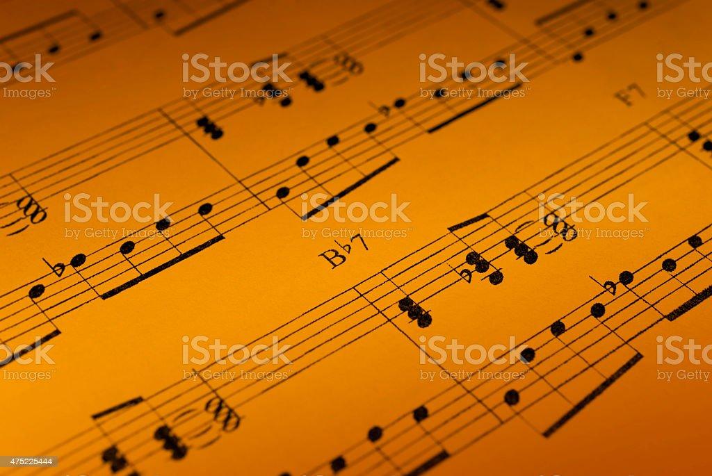 Music Sheet Detail stock photo