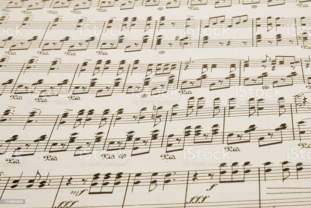 Music sheet royalty-free stock photo