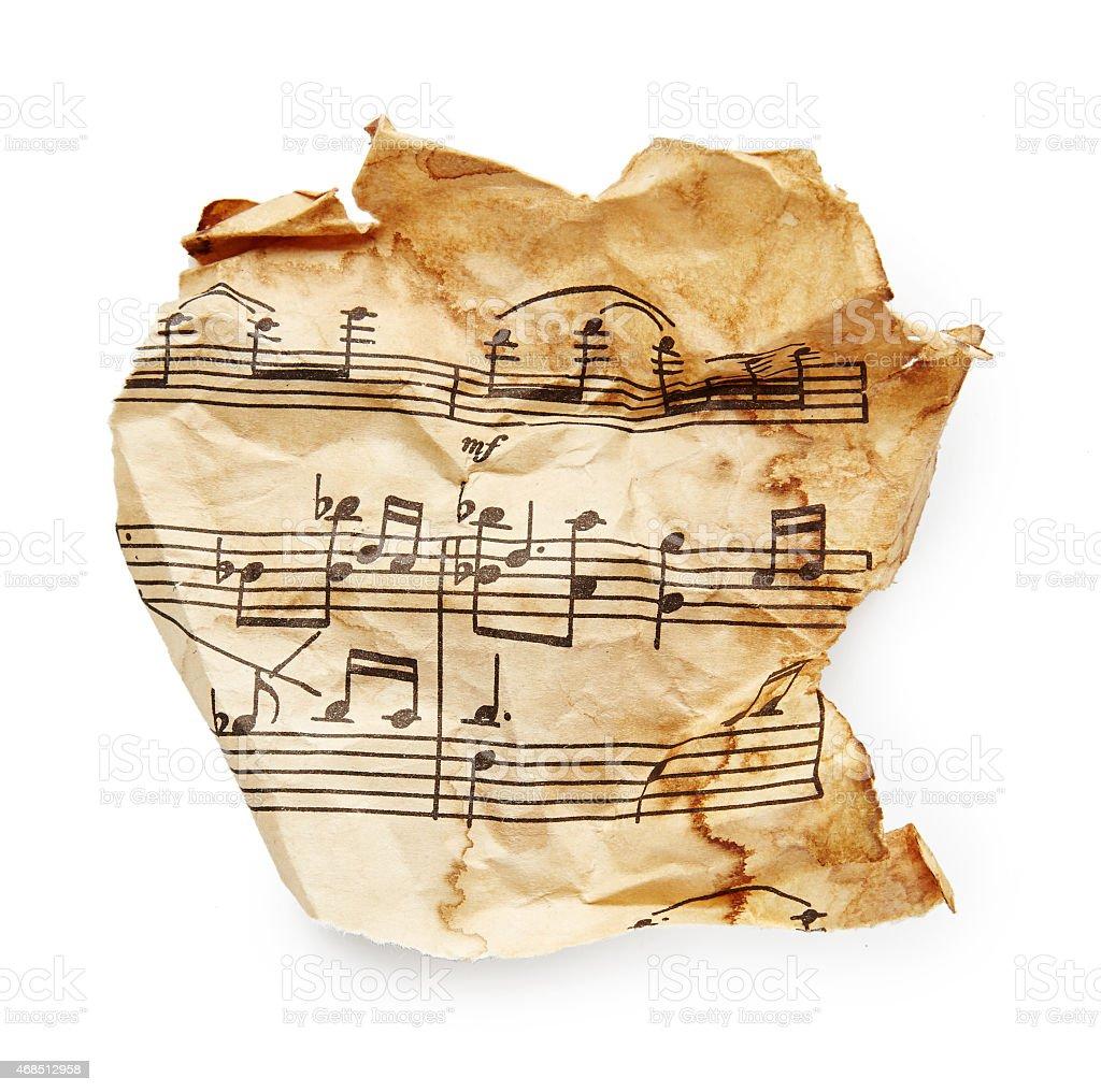 Music sheet stock photo