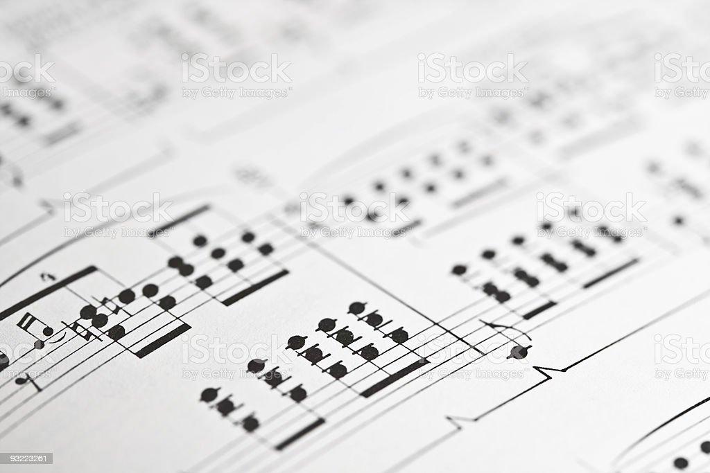 Music sheet royalty-free stock photo