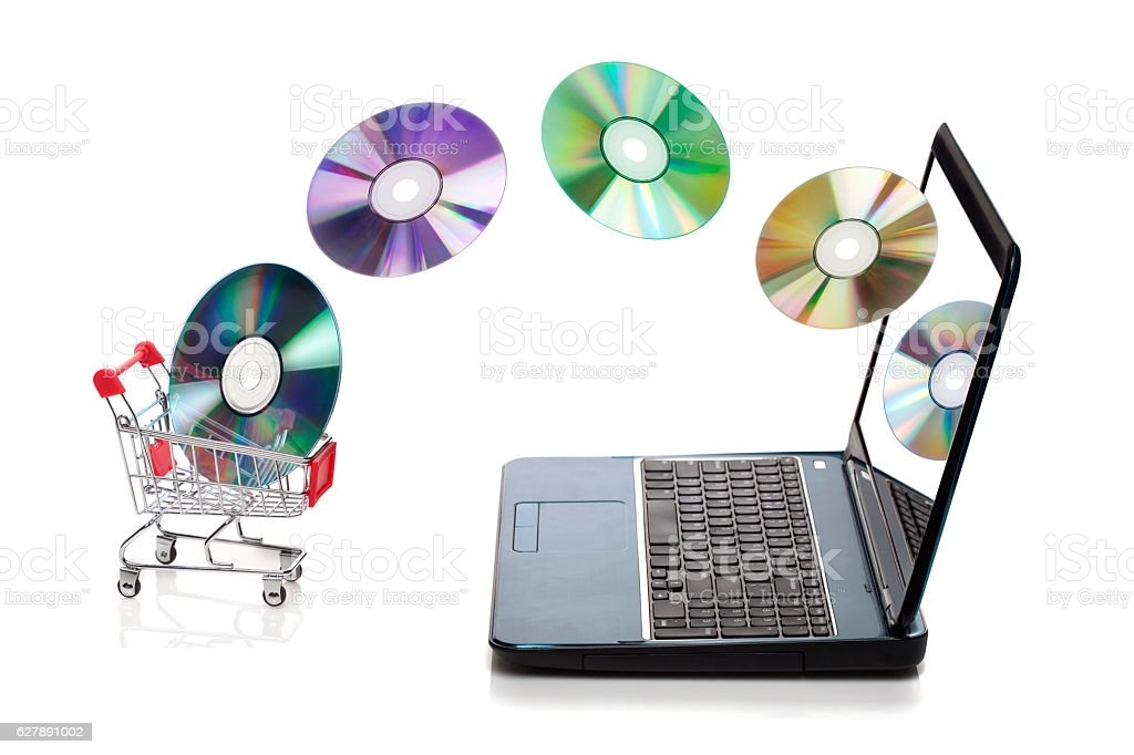 Music shopping concept stock photo