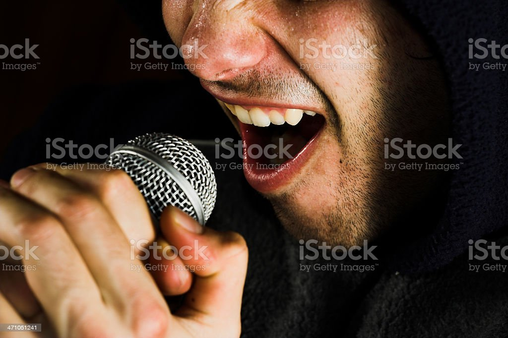 Music singer and microphone royalty-free stock photo