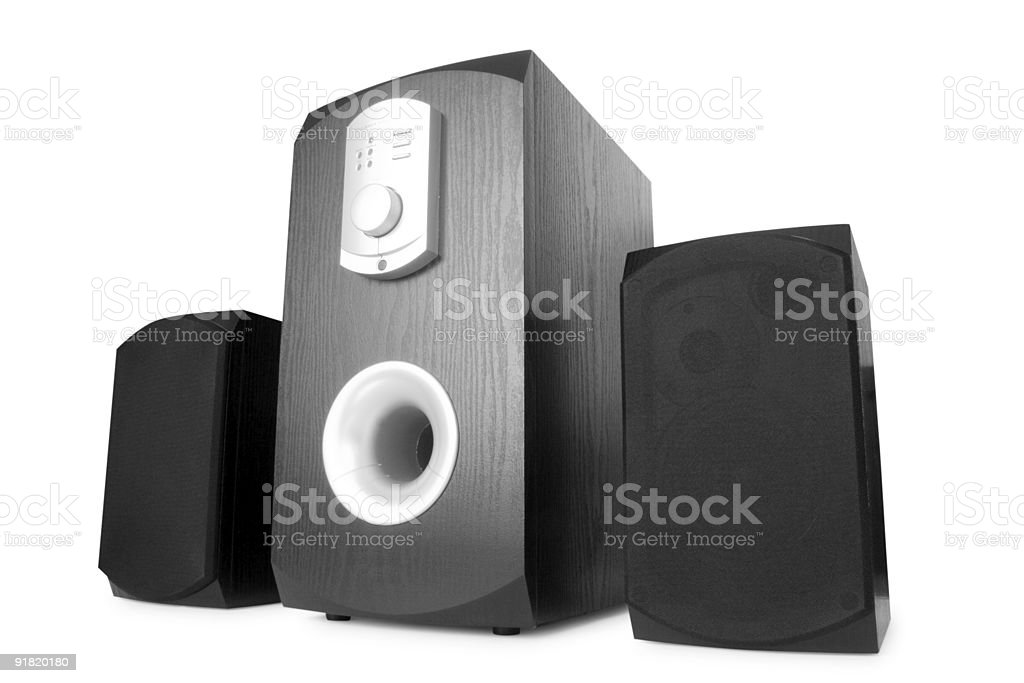music. speakers isolated royalty-free stock photo