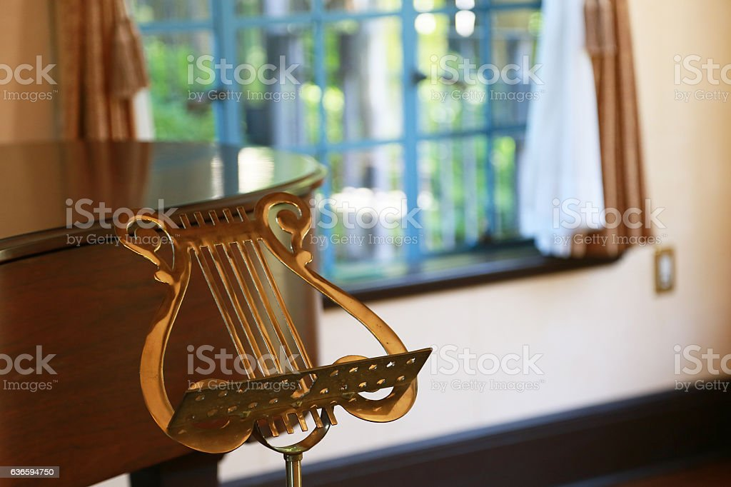 Music stand of the music sign stock photo