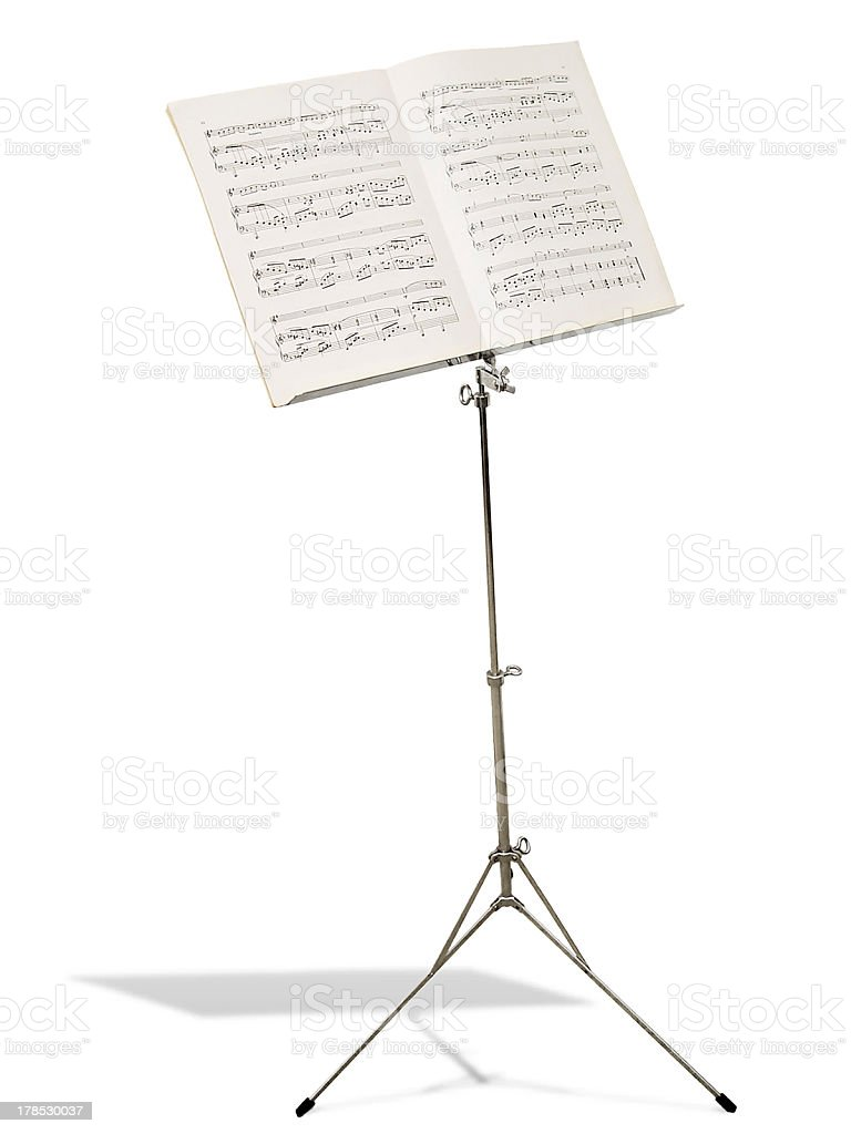 Music Stand (photo request) stock photo