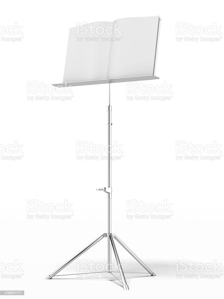 music stand royalty-free stock photo