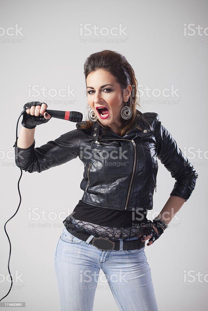 Music star singing royalty-free stock photo