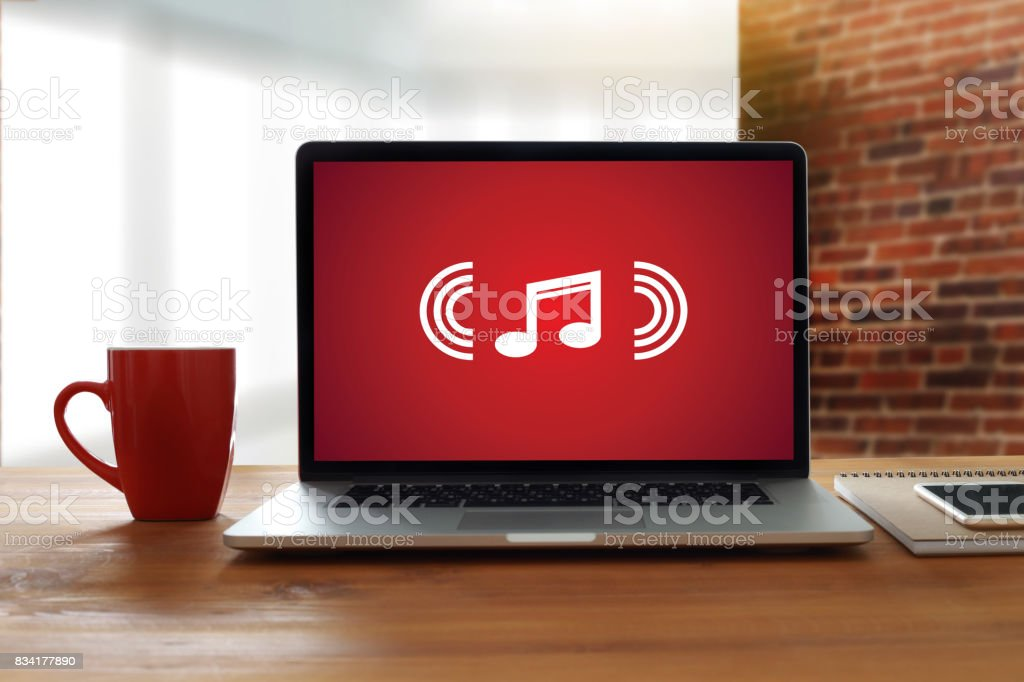 Music Streaming Media enjoying the music Entertainment Download stock photo