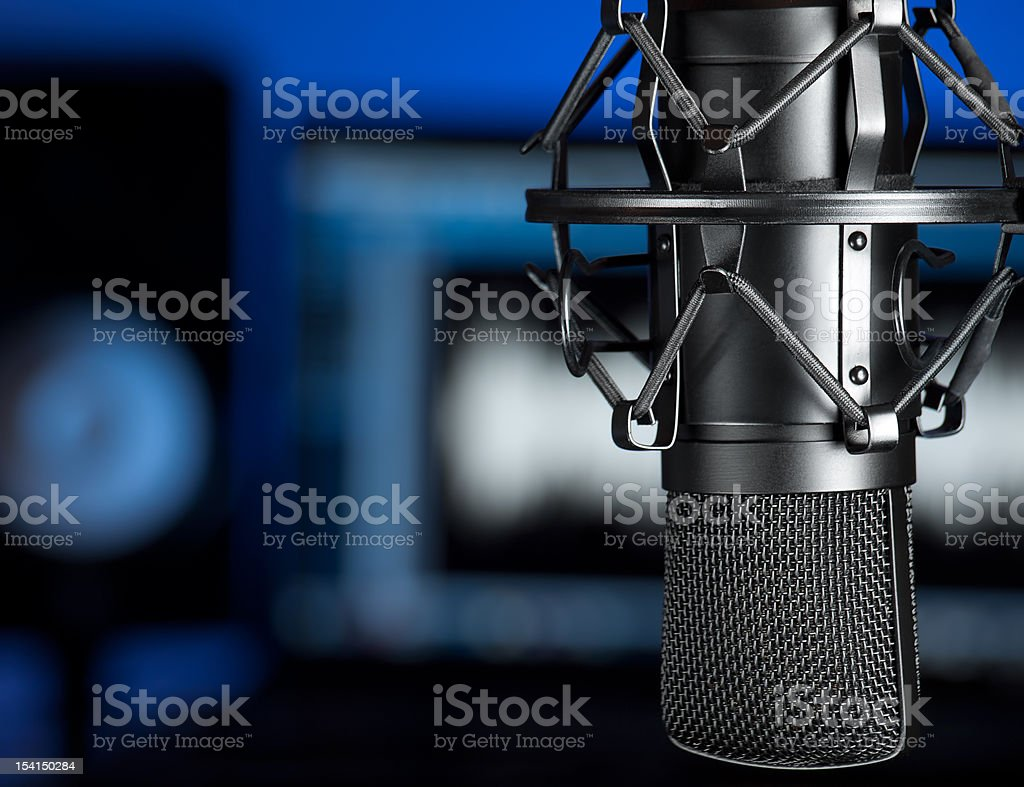 Music studio stock photo
