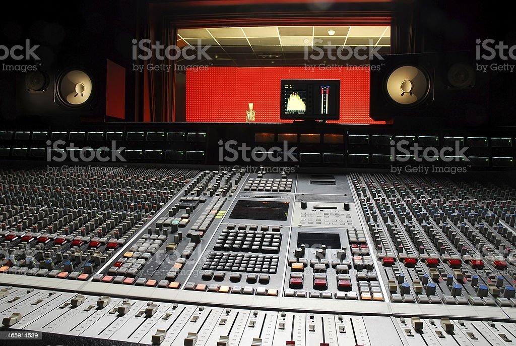 music studio stock photo
