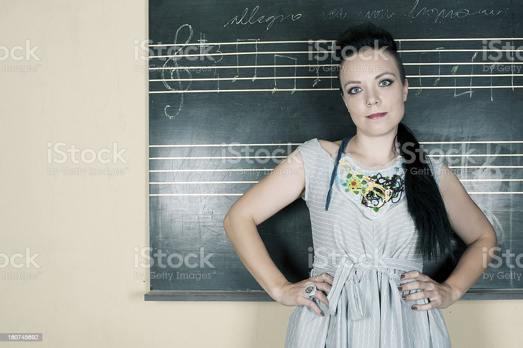 Music Teacher stock photo
