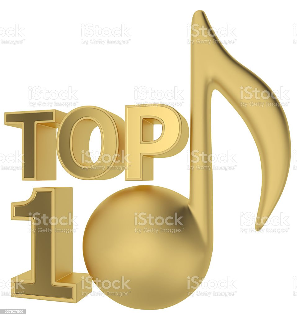 music TOP 10 stock photo