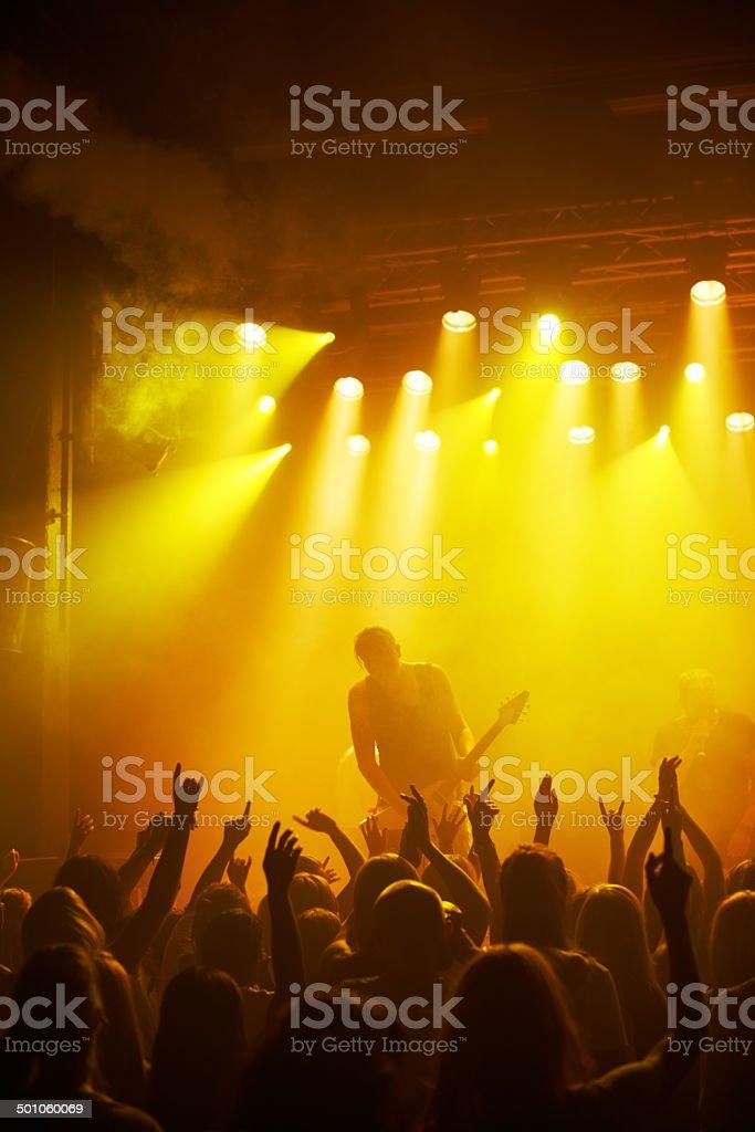 Music unites people stock photo