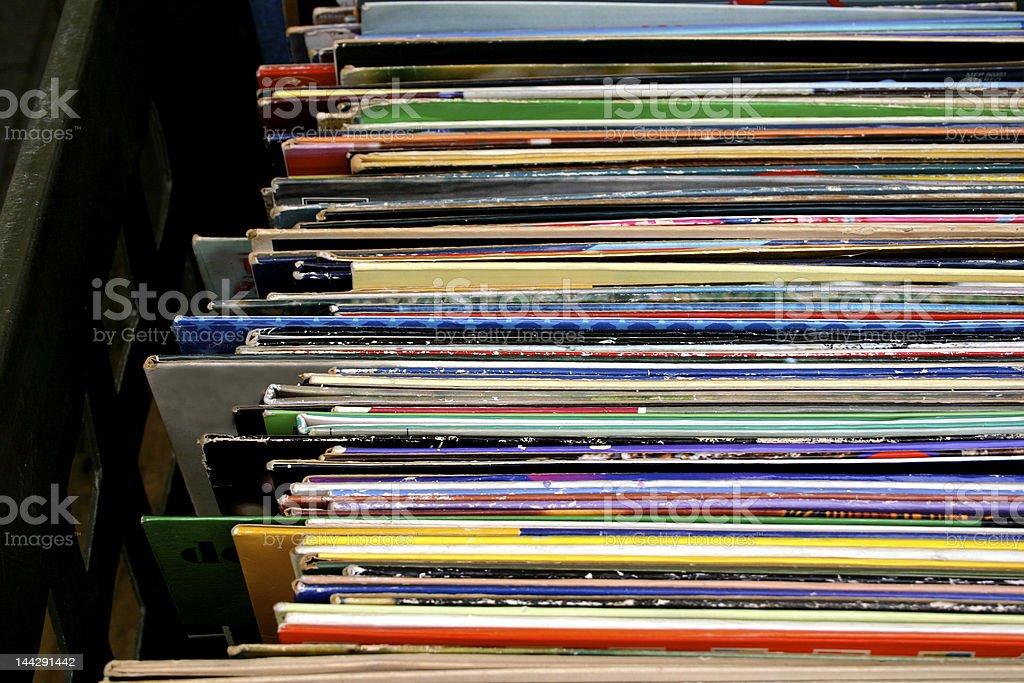 Music vinyl album covers royalty-free stock photo