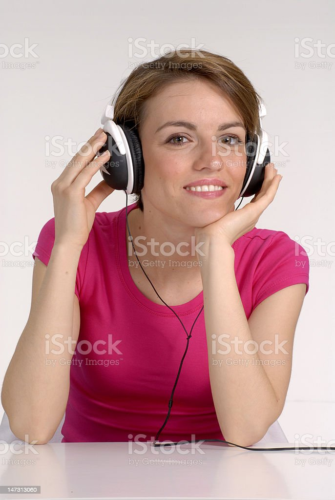 Music woman. royalty-free stock photo