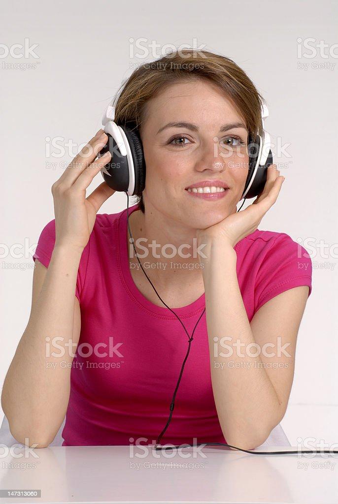 Music woman. stock photo
