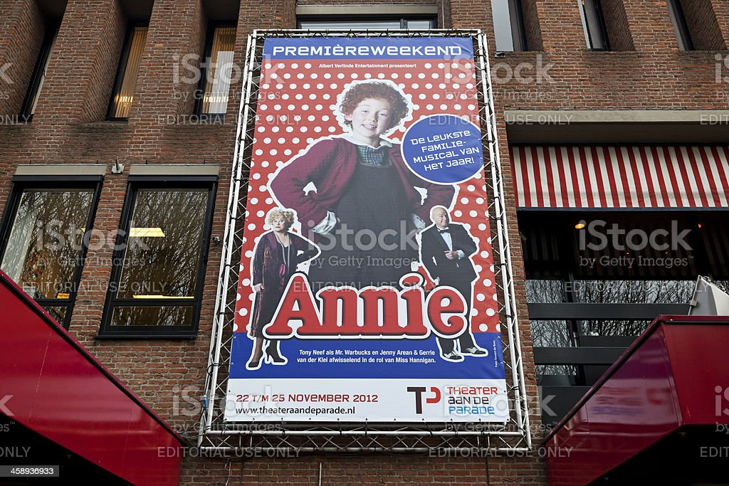 Musical Annie stock photo