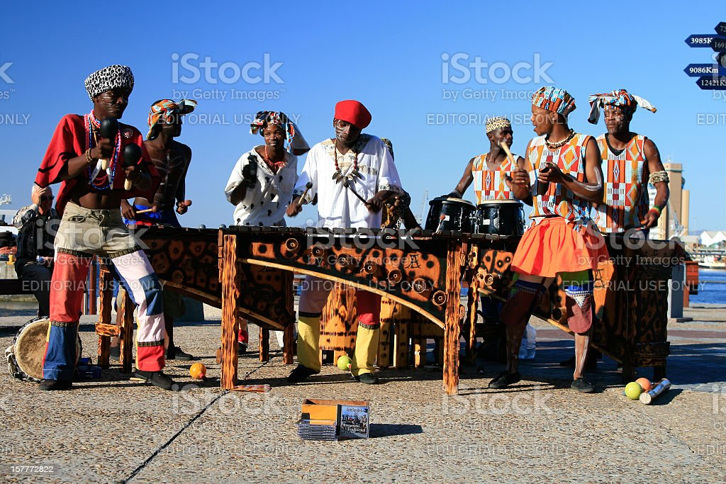 Musical band in Cape Town, South Africa royalty-free stock photo