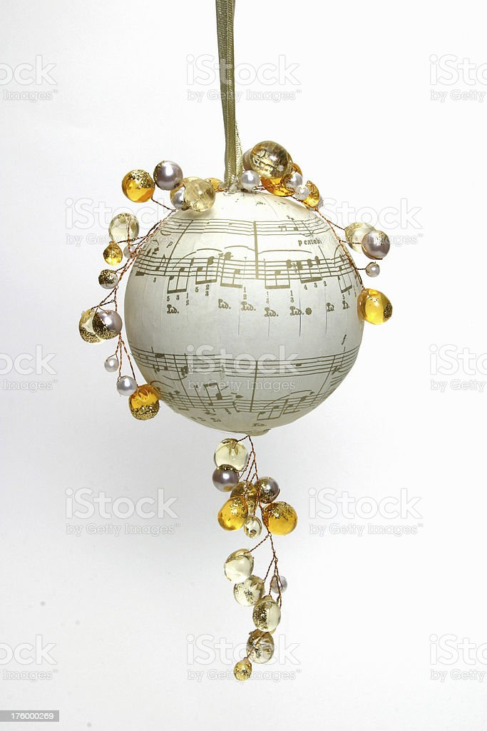 Musical Christmas Ornaments (series) royalty-free stock photo