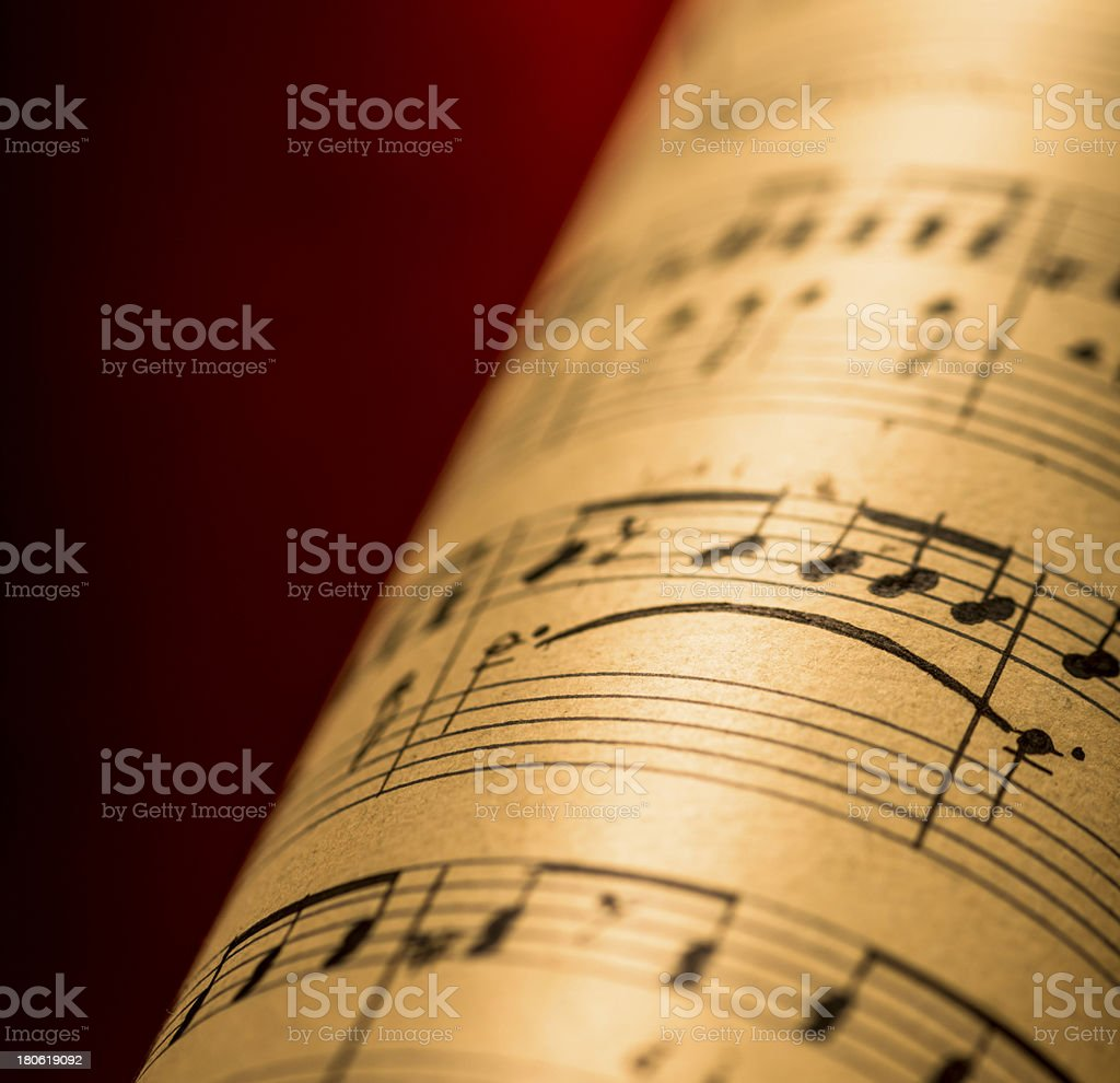 Musical composition stock photo